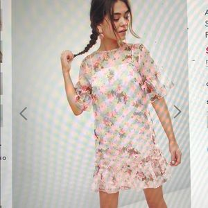 ASOS Mini Shift Dress in Pretty 3D Floral